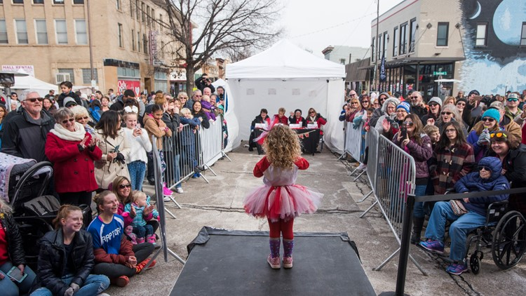 Scenes at the Sweetheart Festival in downtown Loveland Saturday Feb. 9, 2019.