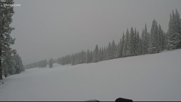 Checking the conditions of the snowy slopes at Vail