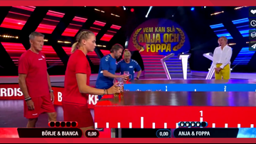 Avalanche legend Peter Forsberg is the star of a Swedish game show, and the clips of it are amazing