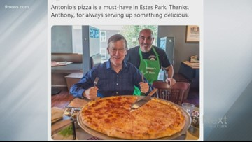 Former Gov. John Hickenlooper encountered something called ... a pizza.