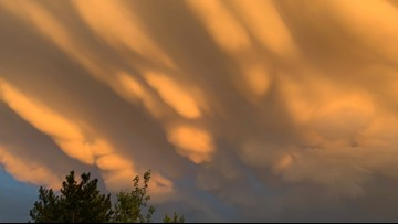 What kind of clouds lit up the sky above Denver this week?