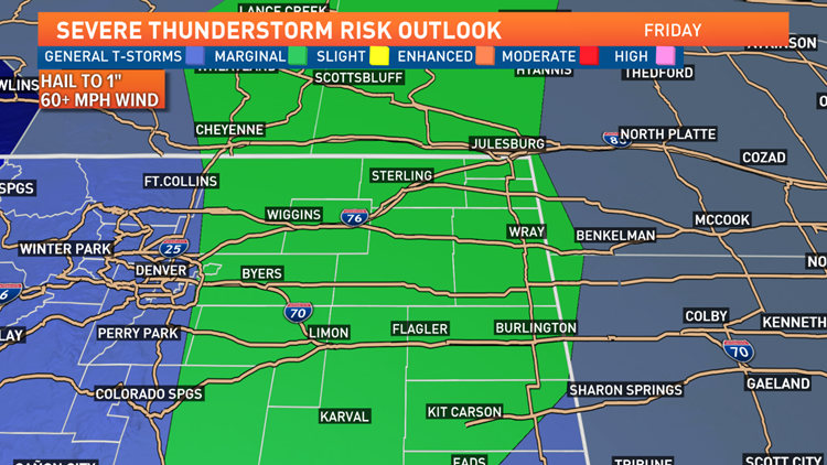 Storm outlook Friday 8-22-2019