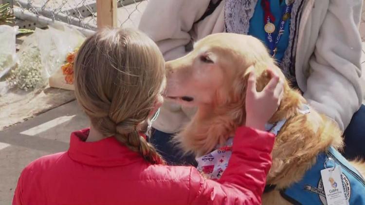 Chaplains and comfort dog help community grieve after Boulder shooting