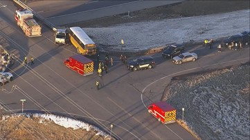 No injuries to students after pickup collides with school bus near Watkins