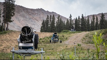 The snow guns are out at Arapahoe Basin