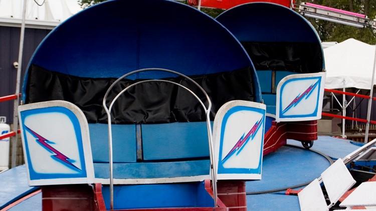 Summer Carnival Tilt-a-while amusement park ride festival