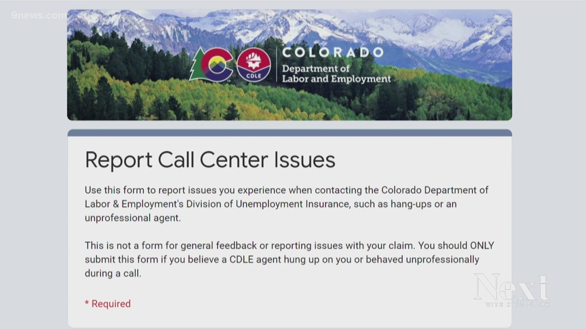 Who do you call about CDLE call center problems?