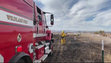 RAW | Brush fire near Chatfield State Park