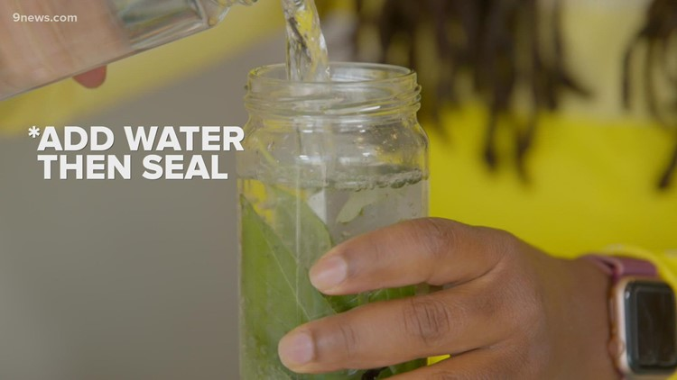Infused water helps you stay hydrated while adding flavor