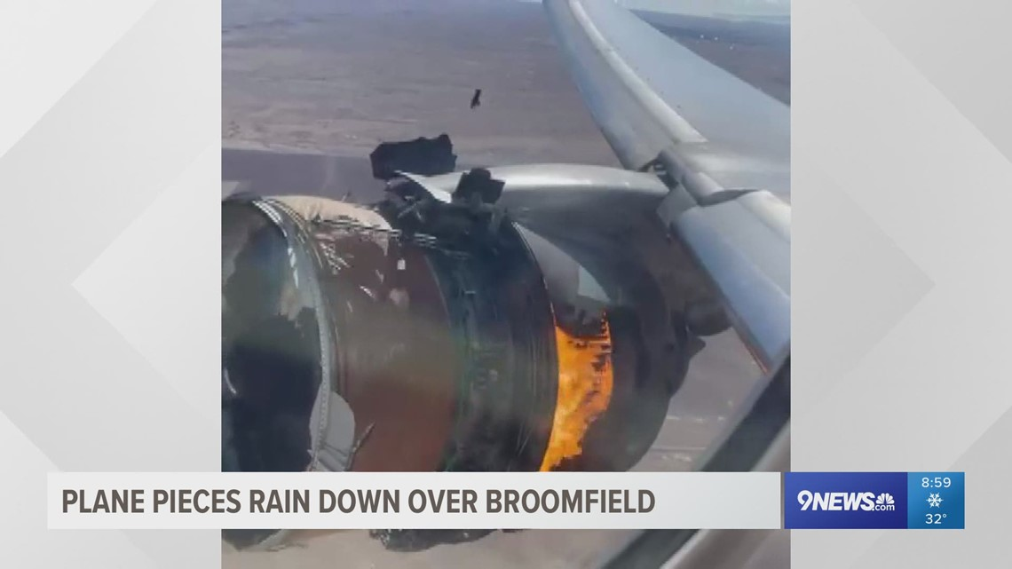 Airplane parts fall from the sky in Broomfield: Residents, passengers react