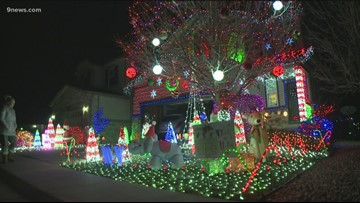 How an Aurora family is using their Christmas lights to help people with autism