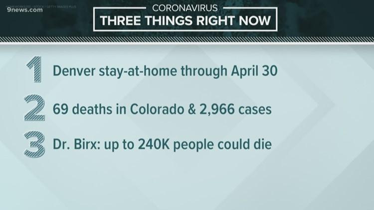 Top coronavirus headlines for Wednesday morning April 1
