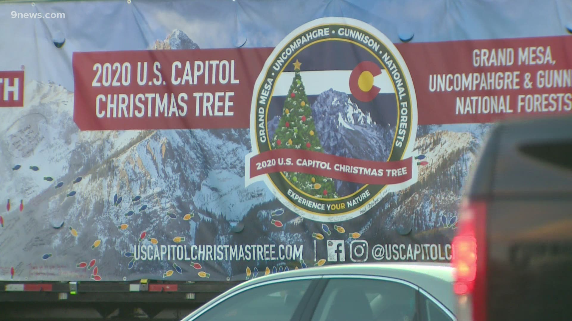 U.S. Capitol 2020 Christmas tree arrives in Washington, D.C.