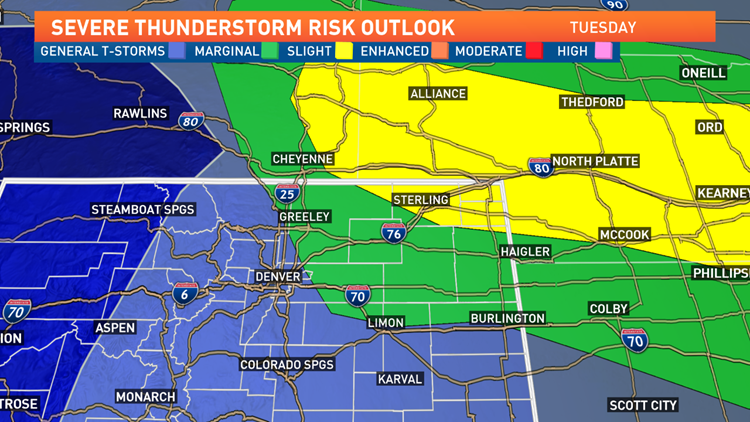 Severe Weather Outlook - Tuesday