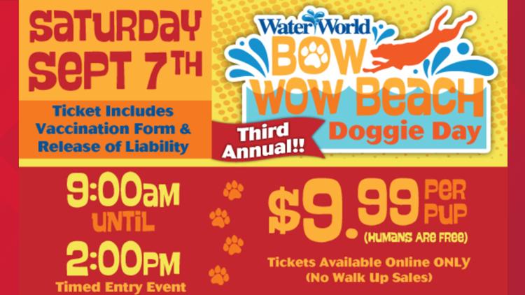 Beach Doggie Day at Water World