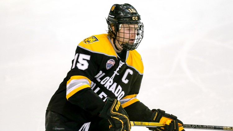 Colorado College's Mason Bergh  NCAA hockey