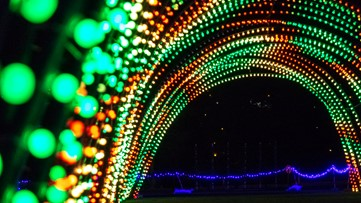 Taking a drive through Christmas in Color, the new light display in Water World's parking lot