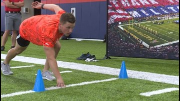 Broncos and USAA put military members through combine boot camp