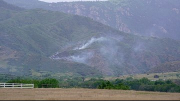 3-acre grass fire in Waterton Canyon 50% contained