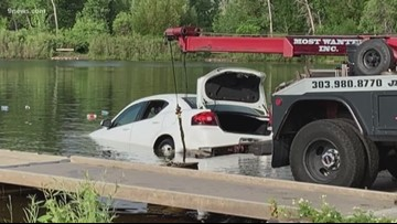 Driver mistakes boat ramp for road, drives into lake