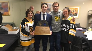 Colorado College's Grant Cruikshank skates own path from Olympic family