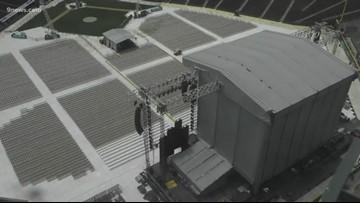 RAW | Crews in Denver prepare Coors Field for Billy Joel concert