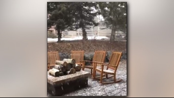 'Thundersnow' reported near The Pinery during Saturday snowfall