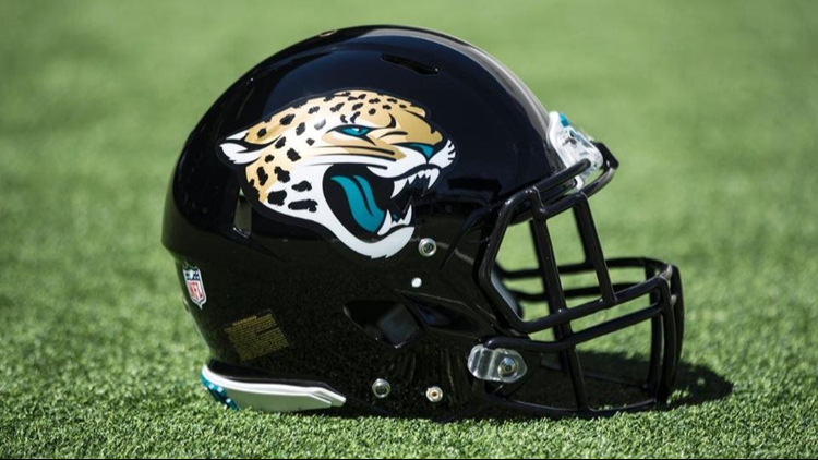 643f13d3af6 Whatever the reason, the club's five-year experiment with the black and  gold helmets is over, the domes reverting to the all-black look the Jags  used for ...