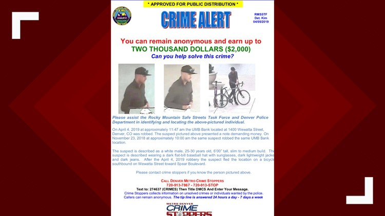 Man robs UMB Bank — again | 9news com