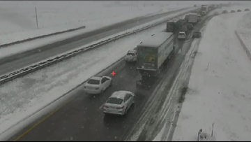 CSP says there's too much traffic on I-25 near Castle Rock to clear crashes from the road