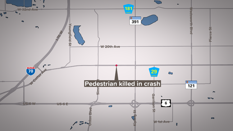 Pedestrian killed in hit-and-run crash in Lakewood