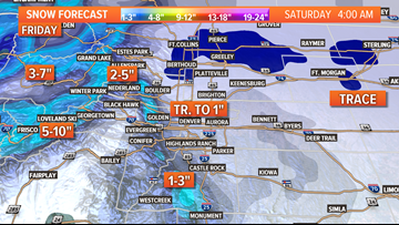 INTERACTIVE RADAR | Snow returns to the Front Range Friday