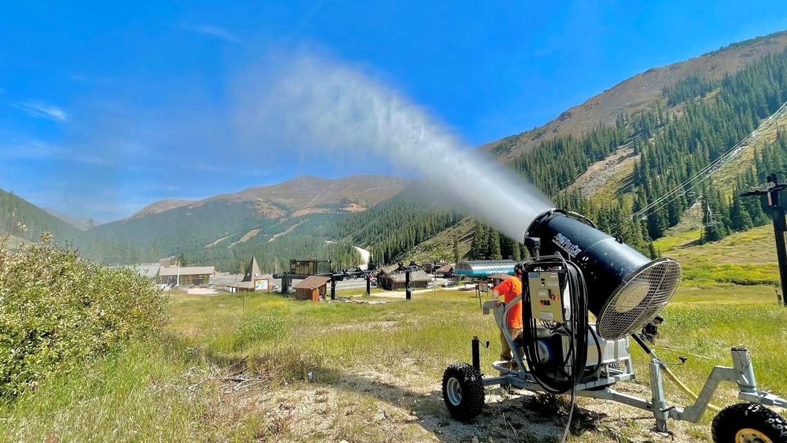 Snowgun test at Loveland Ski Area