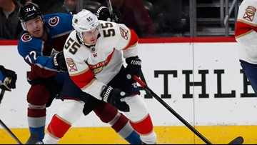 Huberdeau scores in OT, Panthers rally to beat Avalanche 4-3