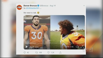 Phillip Lindsay not impressed with his Madden avatar