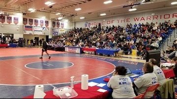 Wrestlers showcase at Top of the Rockies tournament