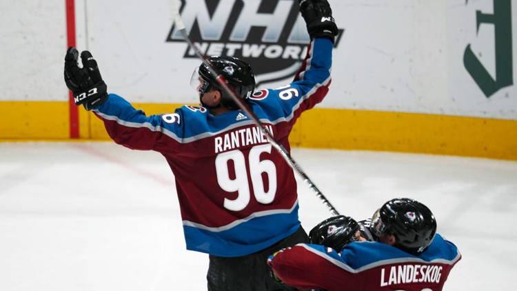 Flames Avalanche Hockey Mikko Rantanen Game 4