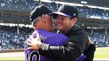 Lambert sparkles to win debut, Rockies top Cubs 3-1