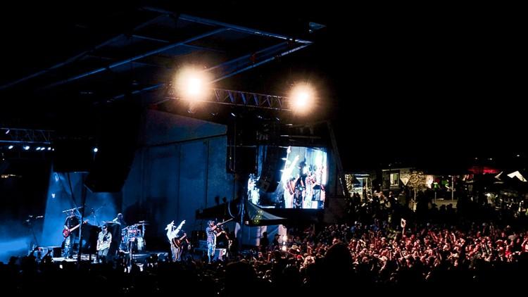 Levitt Pavilion Denver  night photo 2019