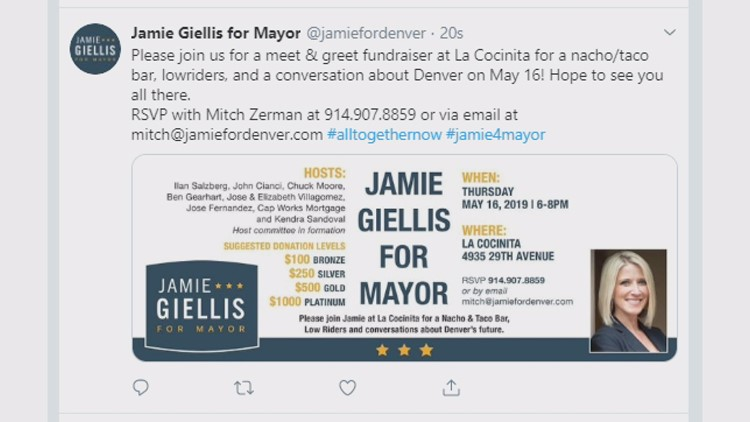 "Deleted ""Jamie for Denver"" tweet"