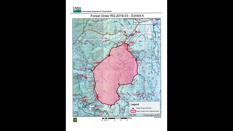 Park Creek Fire estimated at 60 acres | 9news.com