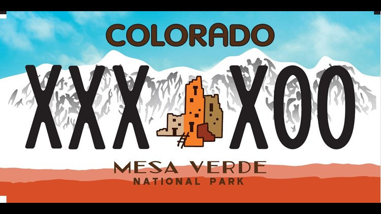 Mesa Verde National Park plate