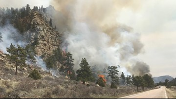 Prescribed burn northwest of Fort Collins creates smoke visible for miles