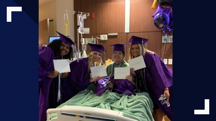 Stuck in the hospital during commencement, DougCo student gets graduation surprise