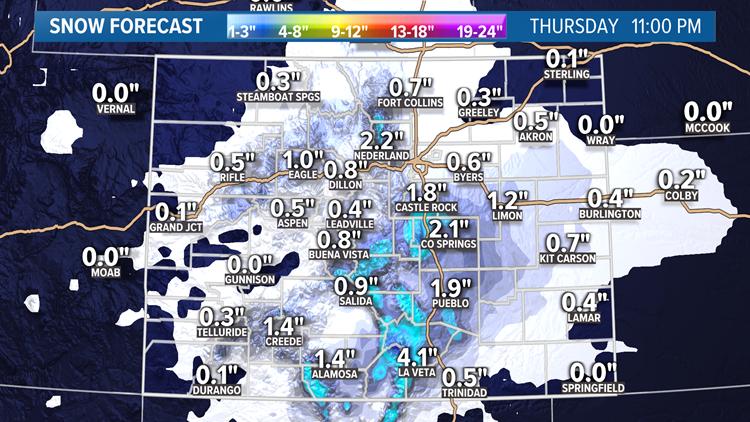 Snow Blog: Upslope storm on the Front Range tonight