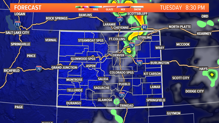 Tuesday night storm forecast