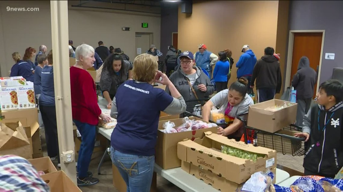 It's a 'table full of blessings' at the mobile food pantry in Littleton for one local woman