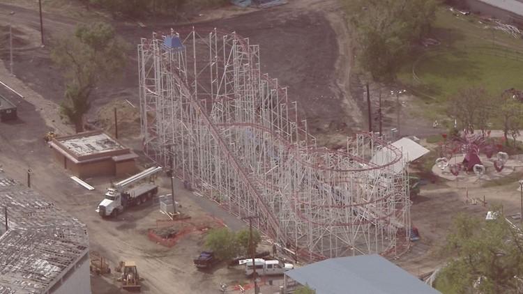 Roller coaster at Lakewood (5/1/5/18) via Sky9