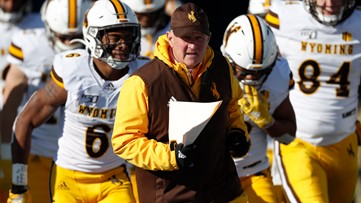 Wyoming football coach donates $100K for spring scholarships
