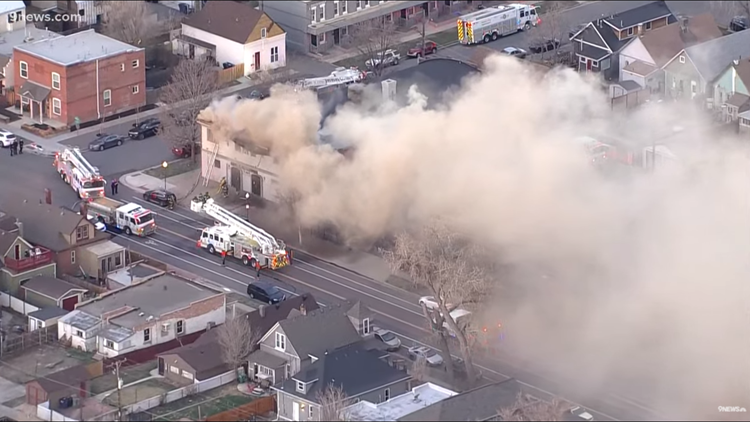 Firefighters battle blaze at north Denver church